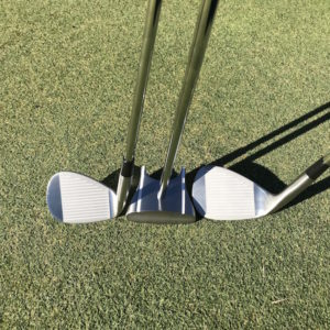 Face on GP putter, HBB wedge & Chipping golf club