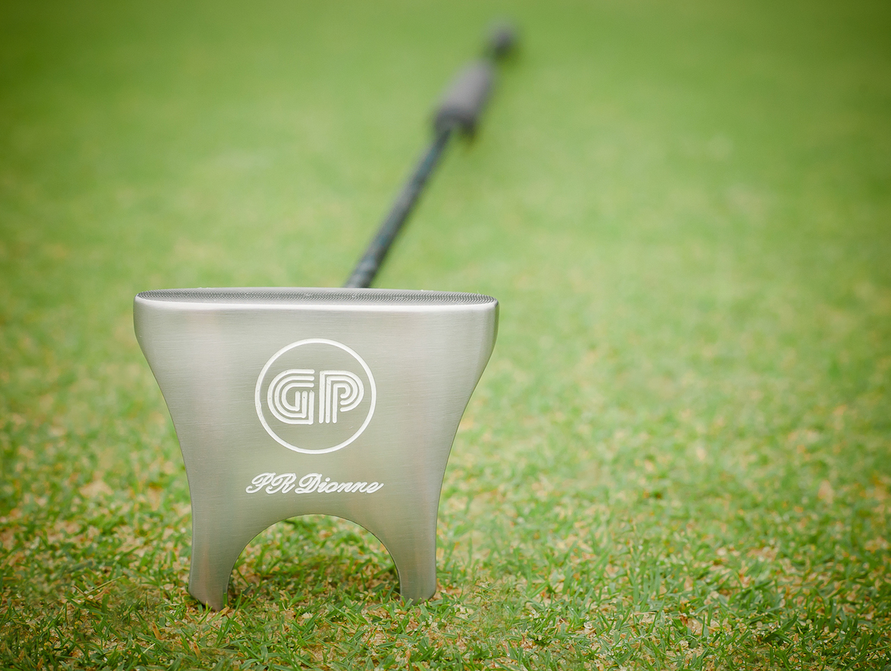 GP putter head view from the bottom