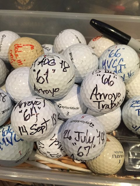 Mike Smith golf balls